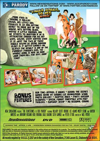 The Flintstones A XXX Parody from New Sensations back cover