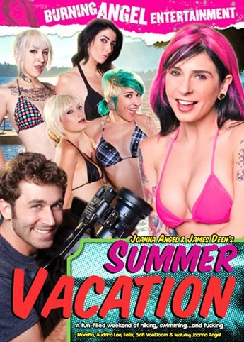 Joanna Angel and James Deen Summer Vacation from Burning Angel front cover