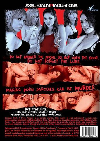 Scream XXX A Porn Parody from Vivid back cover