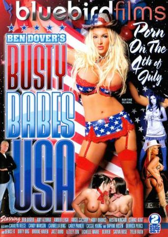 Ben Dover's Busty Babes USA from Bluebird Films front cover