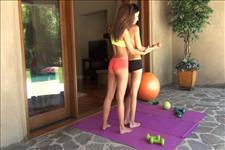 Sweaty Lesbian Workout Scene 3