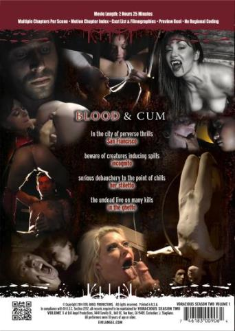 Voracious Season Two V1 from Evil Angel: Rocco Siffredi back cover