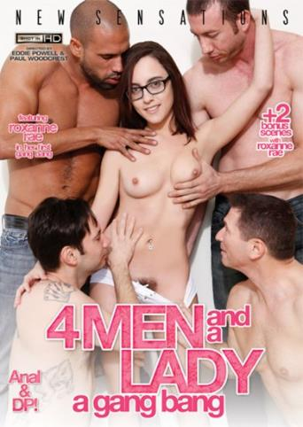 4 Men And A Lady A Gangbang from New Sensations front cover