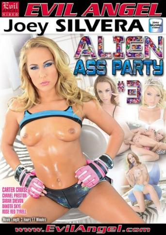 Alien Ass Party 3 from Evil Angel: Joey Silvera front cover