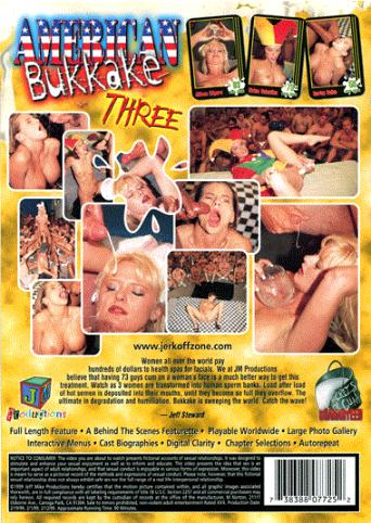 American Bukkake Three from JM Productions back cover