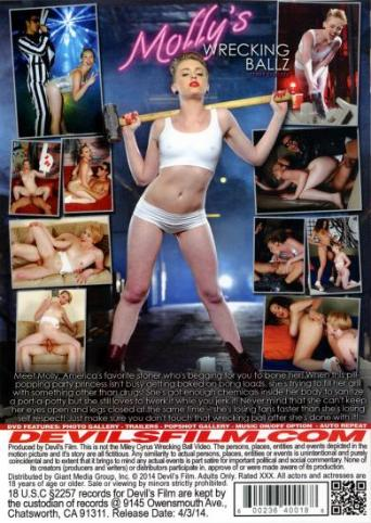 Molly's Wrecking Ballz A XXX Parody from Devil's Film back cover