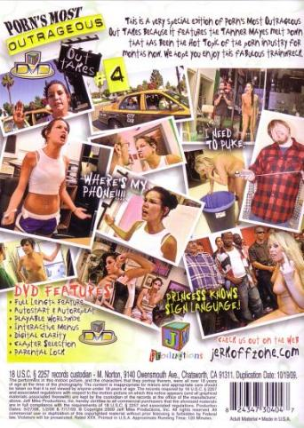 Porn's Most Outrageous Outtakes 4 from JM Productions back cover