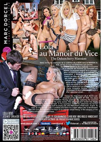 The Debauchery Mansion from Marc Dorcel back cover