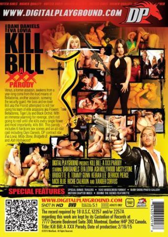 Kill Bill A XXX Parody from Digital Playground back cover