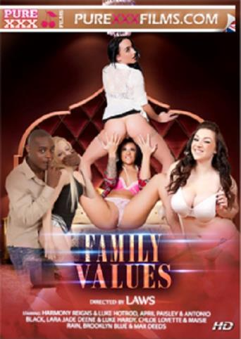 Family Values from Pure XXX Films front cover
