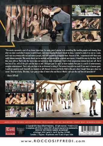 Rocco Siffredi Hard Academy from Evil Angel: Rocco Siffredi back cover