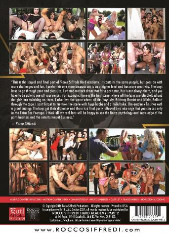 Rocco Siffredi Hard Academy 2 from Evil Angel: Rocco Siffredi back cover