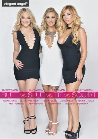 Butt vs. Slut vs. Tit vs. Squirt from Elegant Angel front cover
