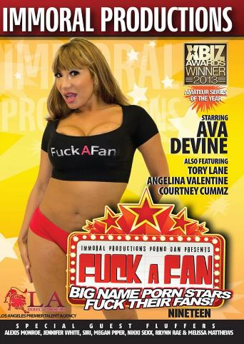 Fuck A Fan 19 from Immoral Productions front cover