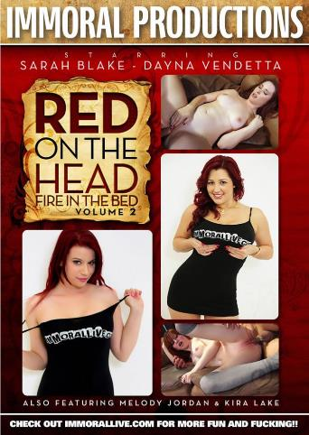 Red On The Head Fire In The Bed 2 from Immoral Productions front cover