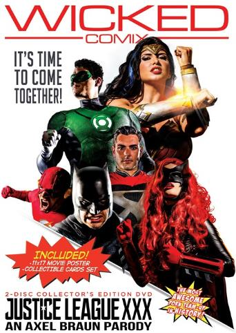 Justice League XXX An Axel Braun Parody from Wicked front cover