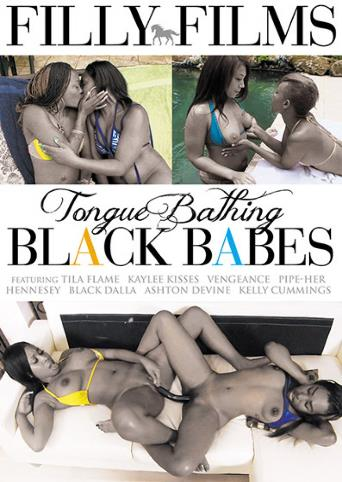 Tongue Bathing Black Babes from Filly Films front cover