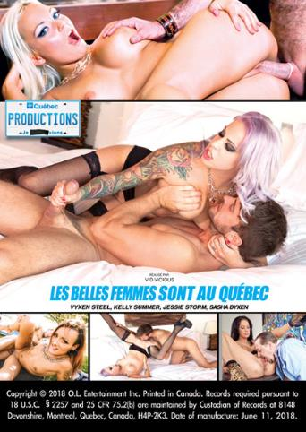 Les Belles Femmes Sont Au Quebec from My Quebec Productions back cover