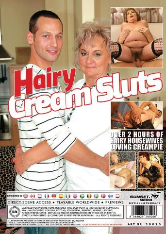 Hairy Cream Sluts from Mature back cover