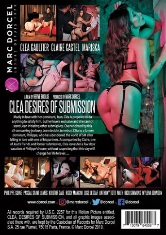 Clea Desires Of Submission from Marc Dorcel back cover