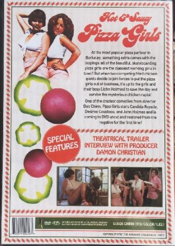 Hot And Saucy Pizza Girls from Vinegar Syndrome back cover